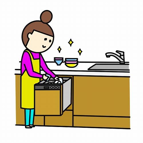 ぜひ食器洗い乾燥機をつけてください