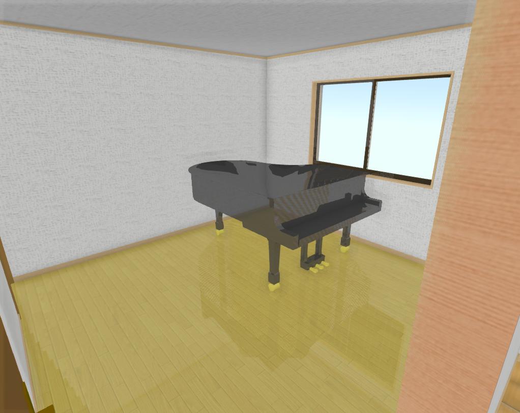ピアノルームの設計とサンルームのご依頼